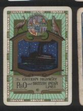 Collectible Advertising playing cards P. & O. shipping line, British India line